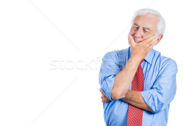 old man thinking trying to recollect stock photo © Ion Chiosea ...