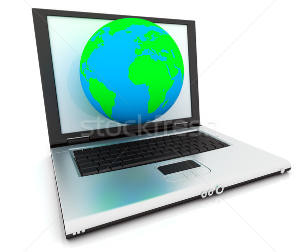 Stock photo: 3D Web Icon - Internet