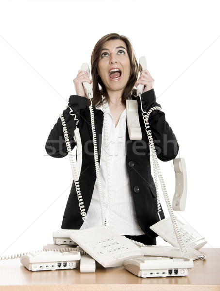Stock photo: Stressful work