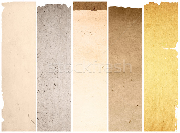 Stock photo: old and worn paper texture background