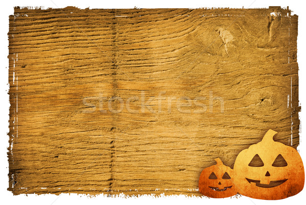 Stock photo: Halloween pumpkins with pumpkin friends