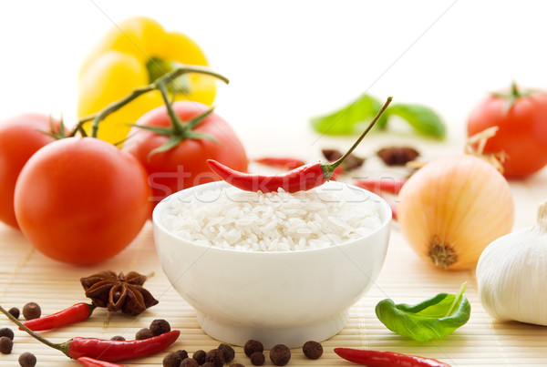 Stock photo: Spicy food ingredients