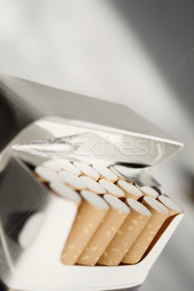 Stock photo: cigarette packet