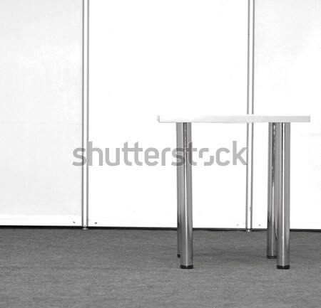 Expo Stand Table : Exhibition stand with table stock photo vadim yerofeyev