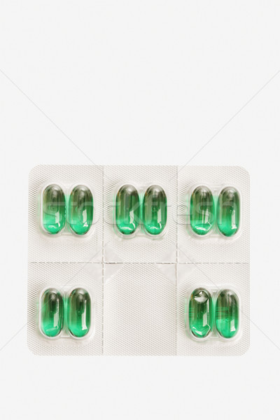 Stock photo: Package of Capsule Pills. Isolated