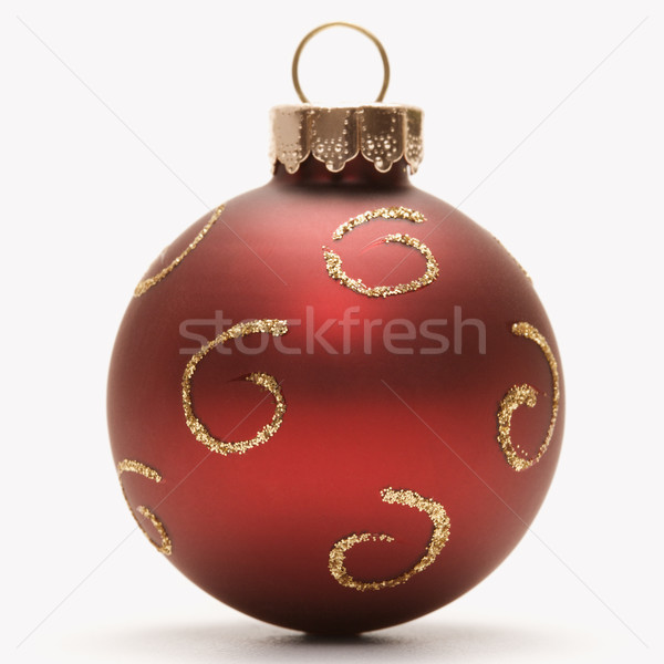 Stock photo: Red Christmas ornament.