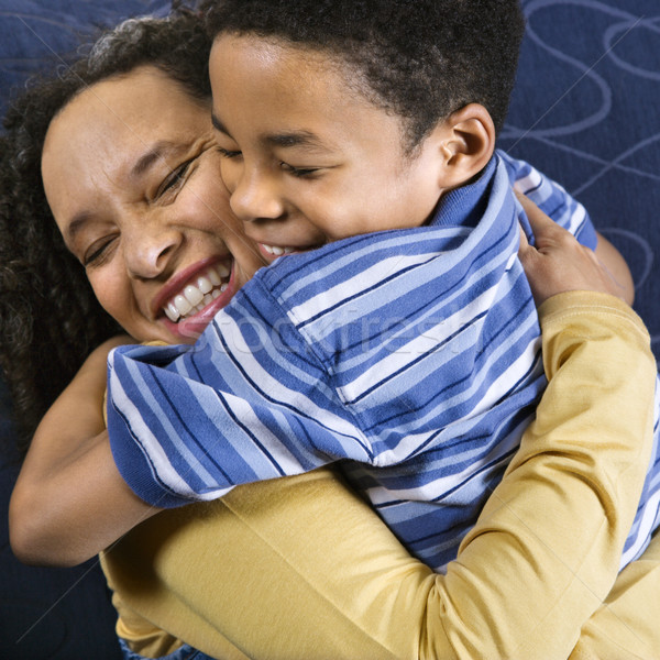 Stock photo: Woman Hugging Son