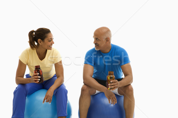 Stock photo: Two people on break.