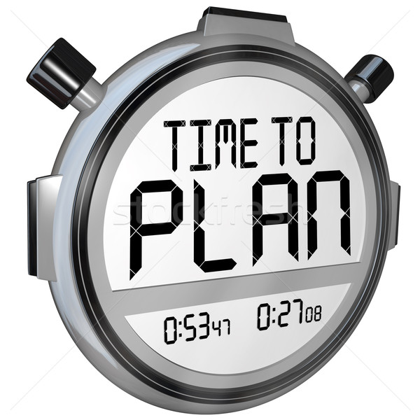 Time to Plan Stopwatch Timer Words Strategy Success stock photo ...