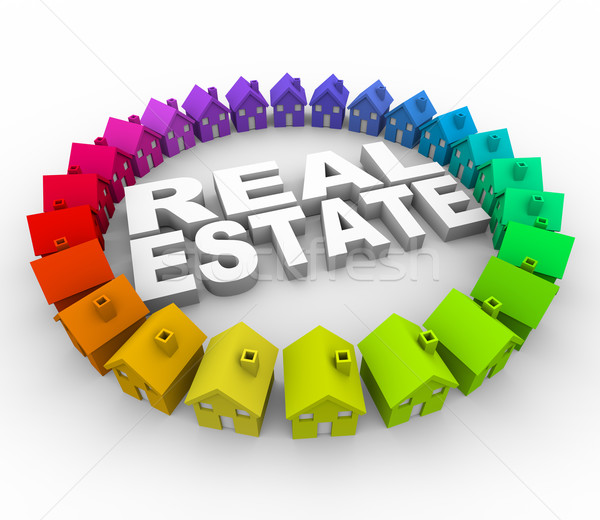 Stock photo: Real Estate - Words Surrounded by Houses