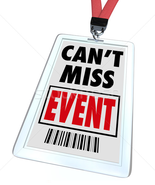 Stock photo: Can't Miss Event - Lanyard and Badge