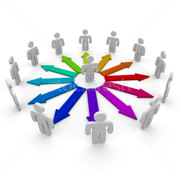 Stock photo: Connections in a Network of People