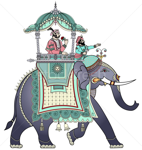 Stock photo: Decorated Indian elephant