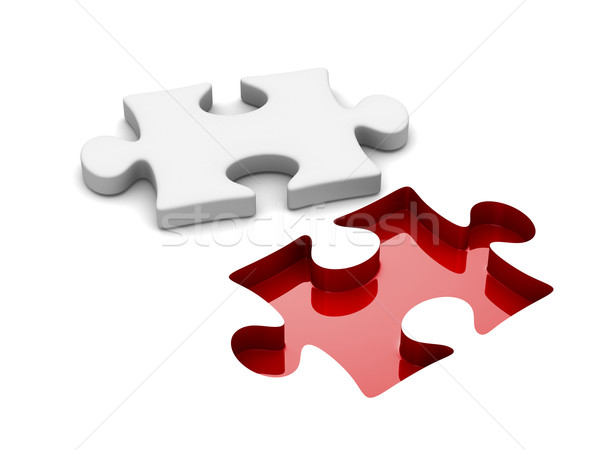 Stock photo: Puzzle on white background. Isolated 3D image