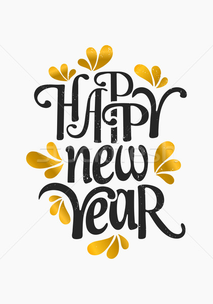 Happy New Year Greeting Card Template vector illustration Iveta – New Year Greeting Card Template