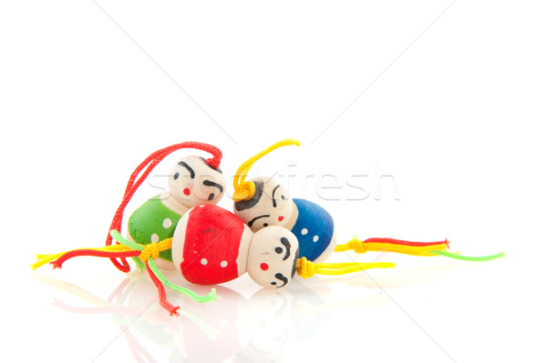 Stock photo: Chinese lucky dolls