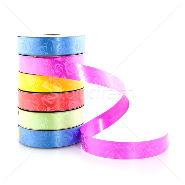 Stock photo: colored ribbon for wrapping
