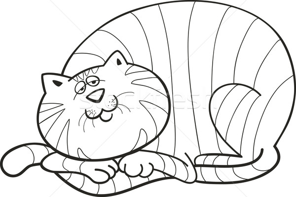 Fat Cat Colouring Pages Sketch Coloring Page