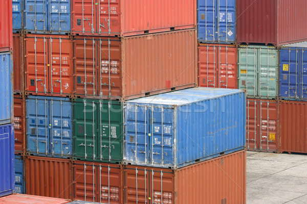 Stock photo: shipping containers
