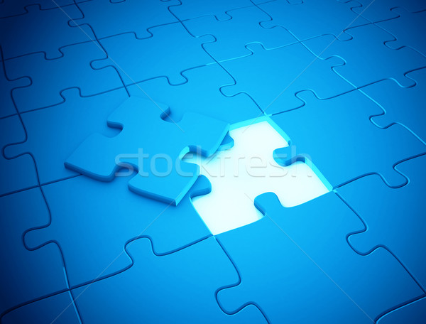 Stock photo: Last piece of the puzzle