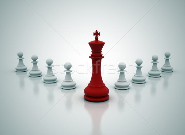 Stock photo: Leadership illustration