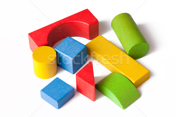 Stock photo: wooden toy blocks