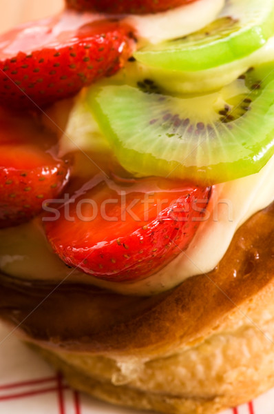 Stock photo: French cake with fresh fruits