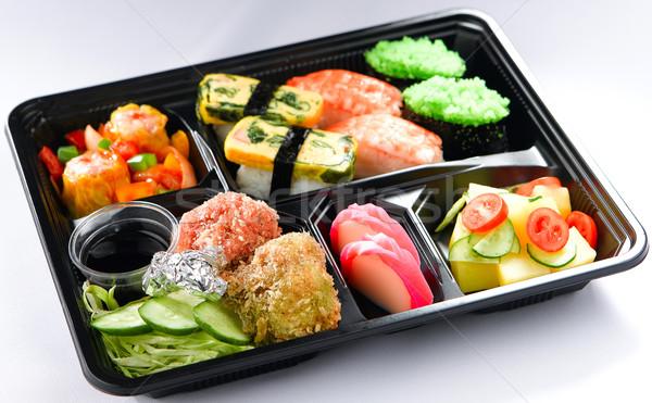 japanese bento lunch box stock photo mr yongyut. Black Bedroom Furniture Sets. Home Design Ideas