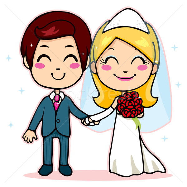 Married Couple Holding Hands vector illustration © Kakigori ...