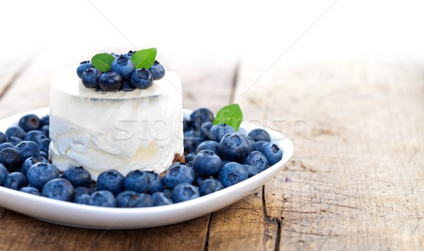 Stock photo: Blueberry cheesecake