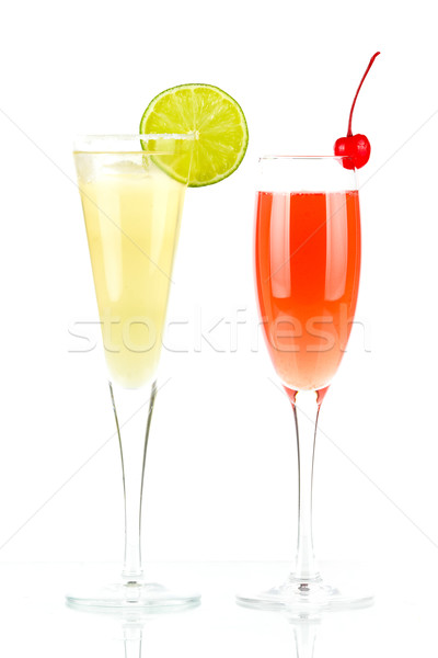 Stock photo: Pernod Fizz and Millennium alcohol cocktails