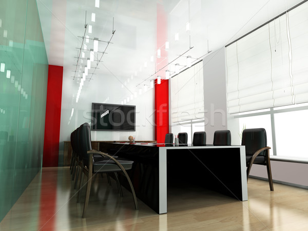 Stock photo: Modern room for meetings