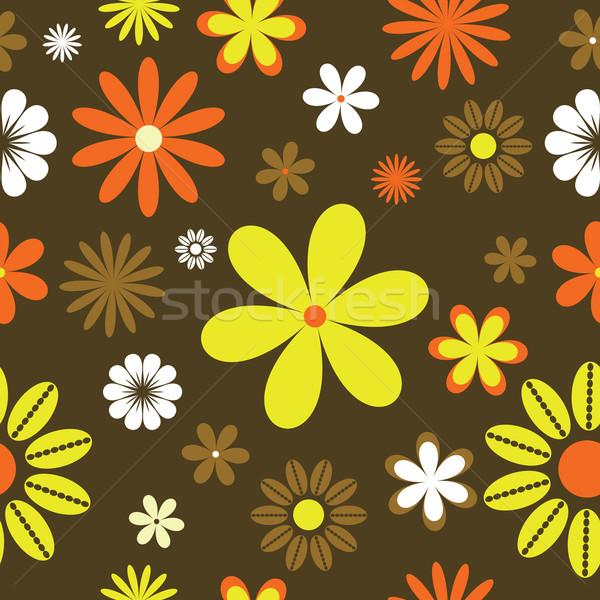 floral wallpaper tile. retro floral background