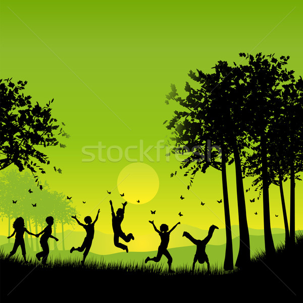 Stock photo: Children playing