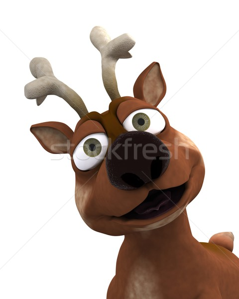 Stock photo: cute reindeer charicature