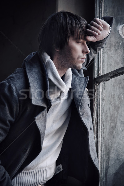 Stock photo: Fashion style photo of a man
