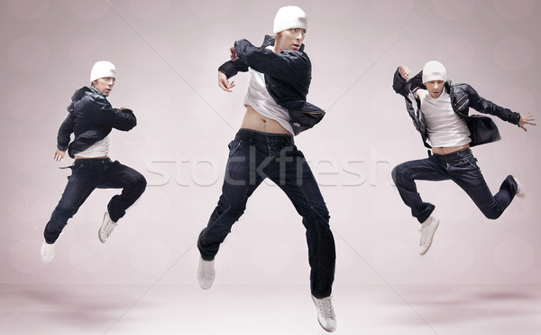 Stock photo: Hip Hop dancer jumping