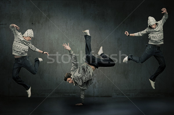 Stock photo: Three hip hop dancers