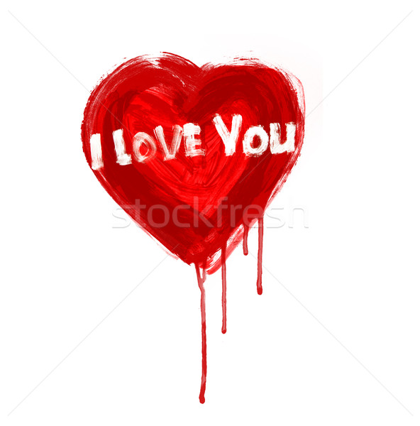 Stock photo: art painted heart