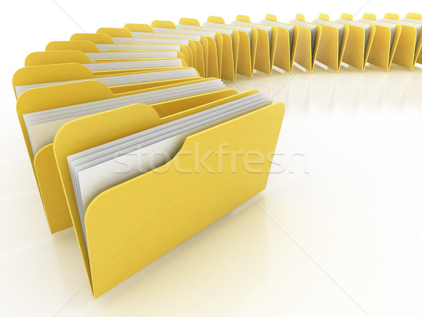 Stock photo: folders 3d illustration
