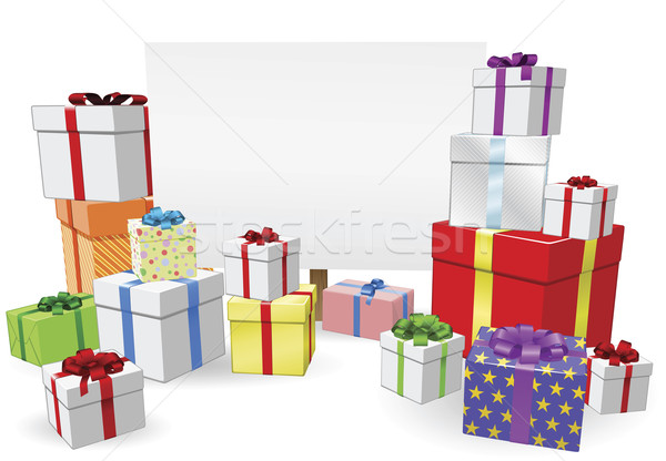 Stock photo: Presents and Sign Concept