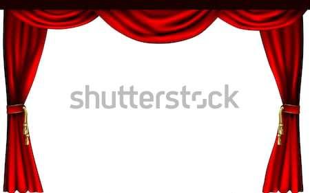 Theatre Or Cinema Curtains Vector Illustration © Christos