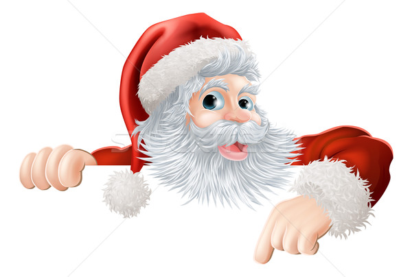 Image result for santa pointing down