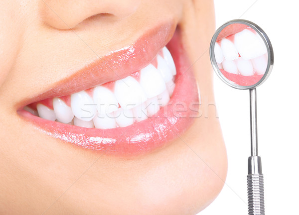 Stock photo: healthy teeth