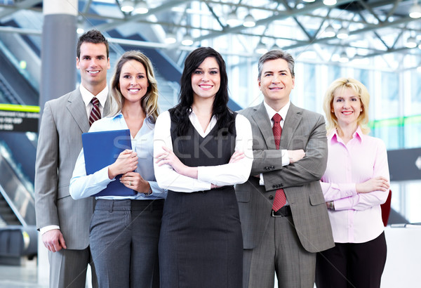 Stock photo: Business people group.