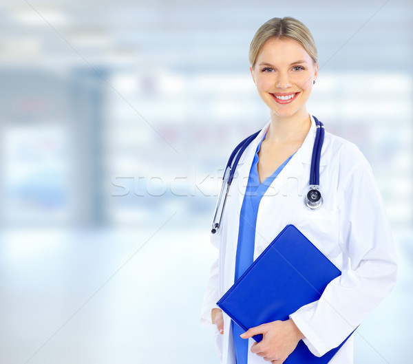 Stock photo: Doctor woman.