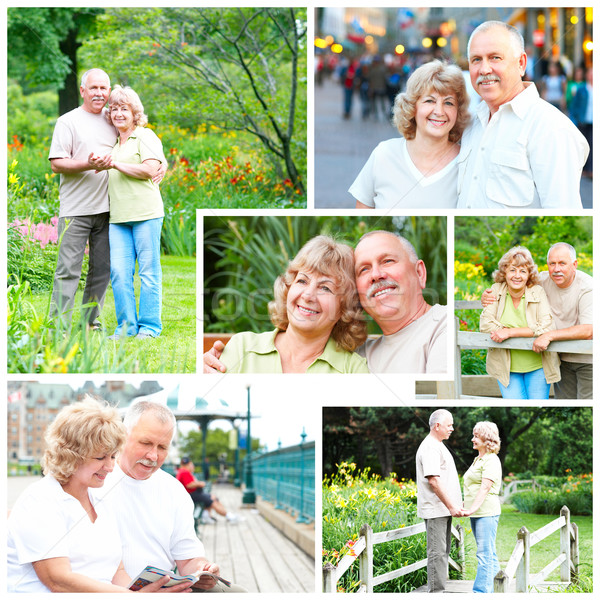 Stock photo: elderly seniors couple