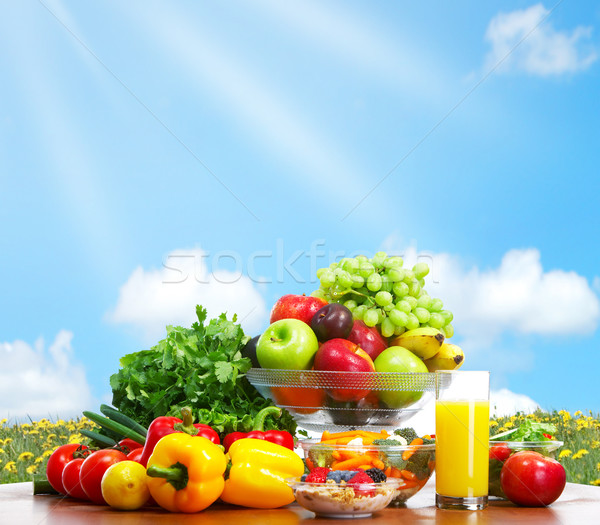 Stock photo: Vegetables and fruits