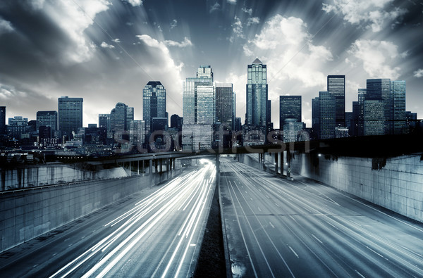 Stock photo: Futuristic Cityscape