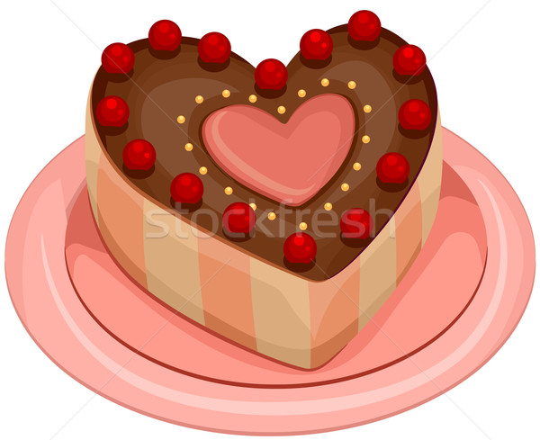 Heart Shaped Cake Stock Photos : Heart-shaped Cake vector illustration ? lenm (#615516 ...